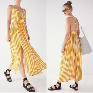 Urban Outfitters UO Tie-Front Striped Maxi Dress